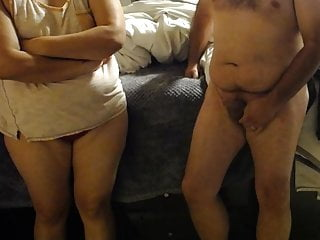 tease husband panty big red bbw