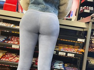 Nice ass canadian with see thru leggings