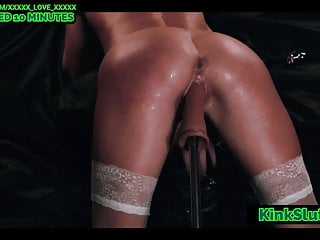 Machine makes pussy squirt...