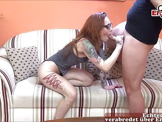Real Casting With German Redhead Milf Model With Glasses