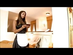 Hot young maid Katia providing excellent room service