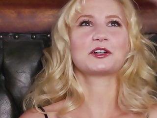 Blonde attractive babe masturbates...