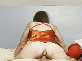 Mature SweetMarie420 riding him with her pussy and ass!