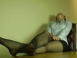Sexy nylon legs...