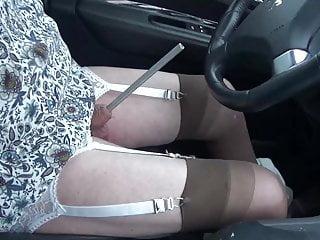 Masturbation Shemale Big Tits Shemale Lingerie Shemale video: shemale tranny sounding urethral car road lingerie nylon dil