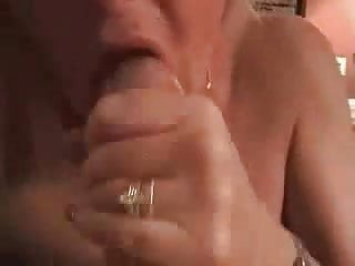 milf sucking cock and cum