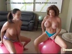 deauxma and ariella bounce on ballsPorn Videos