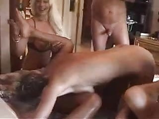 In sex party...