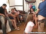 College party sluts group fucking fun