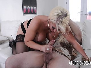 Busty blonde Alura Jenson loves a man in uniform