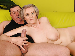 on Old Hops Mom with Hair Young Dick Grey