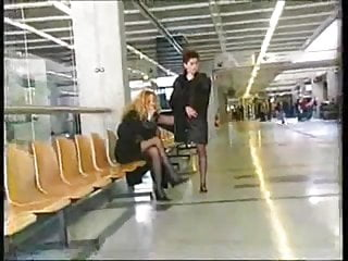 Lesbians in airport...