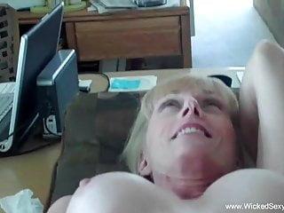 Cumshot from granny swinger...