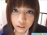 Naughty girl in school uniform