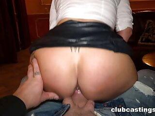 Kiki doing anus at a Strip Joint