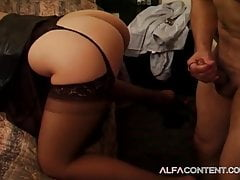 Hot Latina in lingerie knows how to satisfy a man
