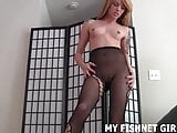I feel like such a slut in these ripped open fishnets JOI