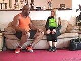 Black man white girl workout