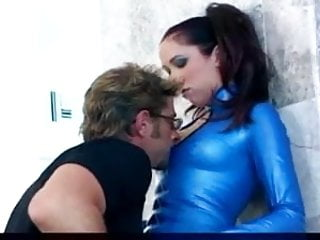 Drooling bj in boots and latex