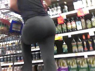 Sexy mean mugging MILF ass