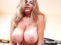 MomPov Huge Tits Mature Cougar Loves Fucking POV Stud