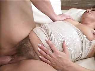 Gorgeous granny fucked and cummed on