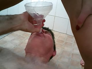 Grandpaps must drink the pee of 4 girls...