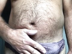 Cum in new brown panty
