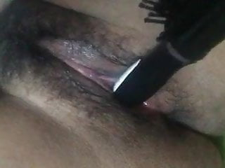 Kik slave fucks her hole with hairbrush for daddy