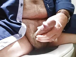 Cumming on the Toilet
