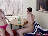 Busty hairy Laney licked by lesbian cutie Lulu