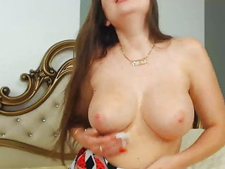 Pretty Busty Chick Playing Her Pussy