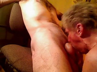 Granny shirley gives bj to young cock...
