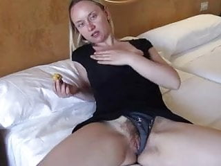 German girl with enormous cunt masturbating