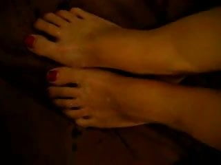 cum on feets
