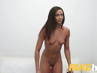 Fake agent hot desk tanned euro babe...