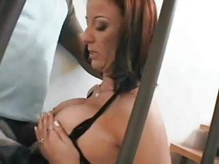 Brenda - big boobs and a black pole