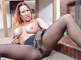 British big breasted MILF Faye feeding pussy