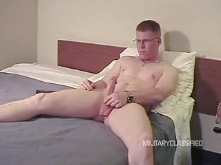 Ginger army guy blowjob
