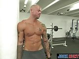 Handsome latinos deepthroat workout leads to ass plowing