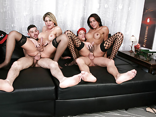 Letsdoeit extreme ass fucking in foursome...