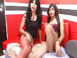 Two Tranny Babe Play And Suck Each Other Cock