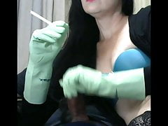 smoking wife with gloves makes me so happy
