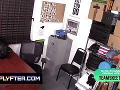 Blonde Big Boobed Skylar Vox Gets Banged In The Backroom