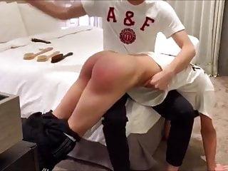 Asian boy gets spanked like he deserves