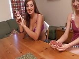 Cate, Natalie & Tracey play Strip High Card