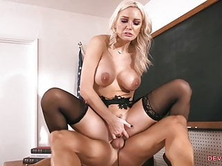 Busty slut finds drilled anally