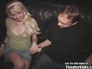 Babe Titties Blonde Bitch Bangs Porno Theater