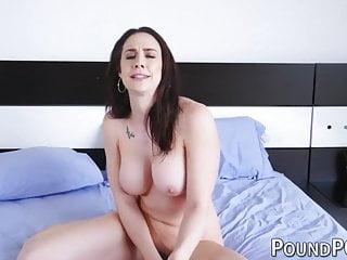 Busty stepmom seduces her stepson into fucking her anally