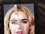 Kiernan Shipka Face Painting Cum Tribute 2